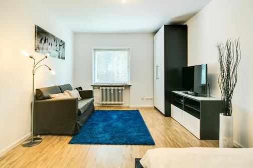 1 pi ce appartement meubl parquet munich au haidhausen 7101. Black Bedroom Furniture Sets. Home Design Ideas